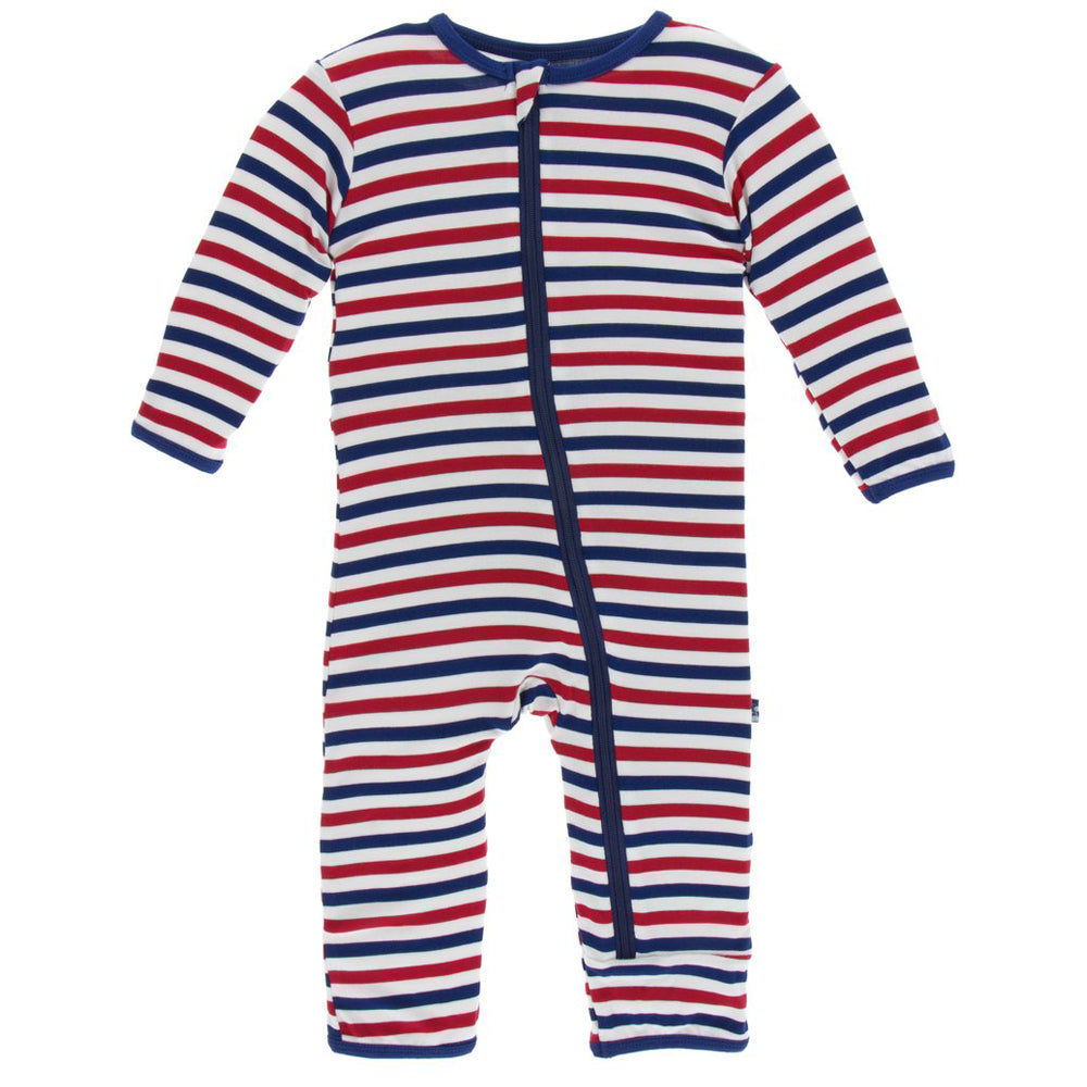 USA Stripe Coverall with Zipper