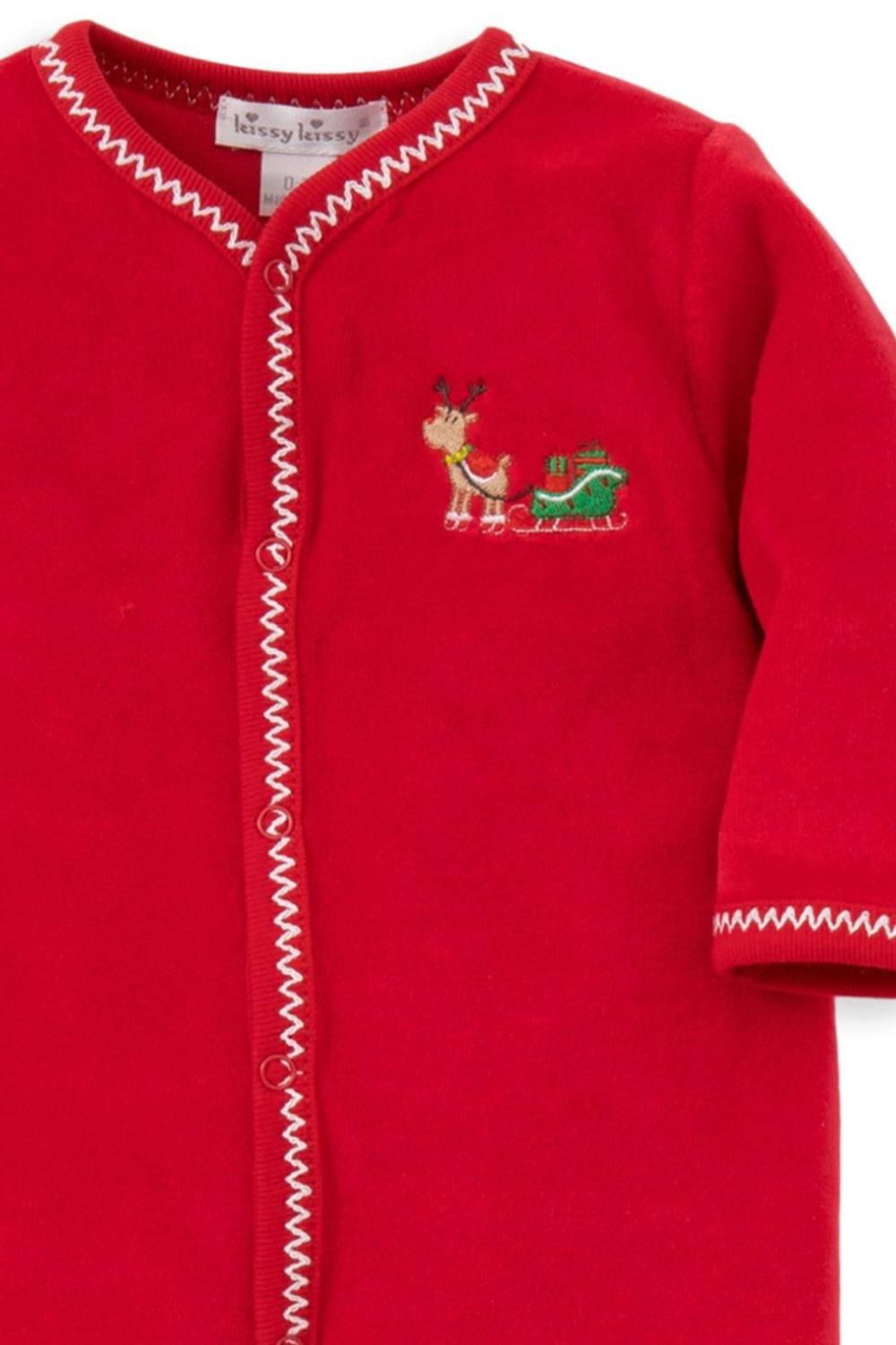 'Tis the Season Christmas Velour Footie