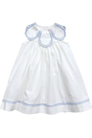 Sophie & Lucas - Blue Gingham Petal Collar Dress - kkgivingtree - K&K's Giving Tree