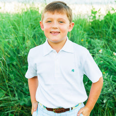 Bailey Boys - White Short Sleeve Polo - kkgivingtree - K&K's Giving Tree