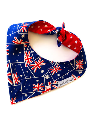 Australia Day Reversible Dog Bandana