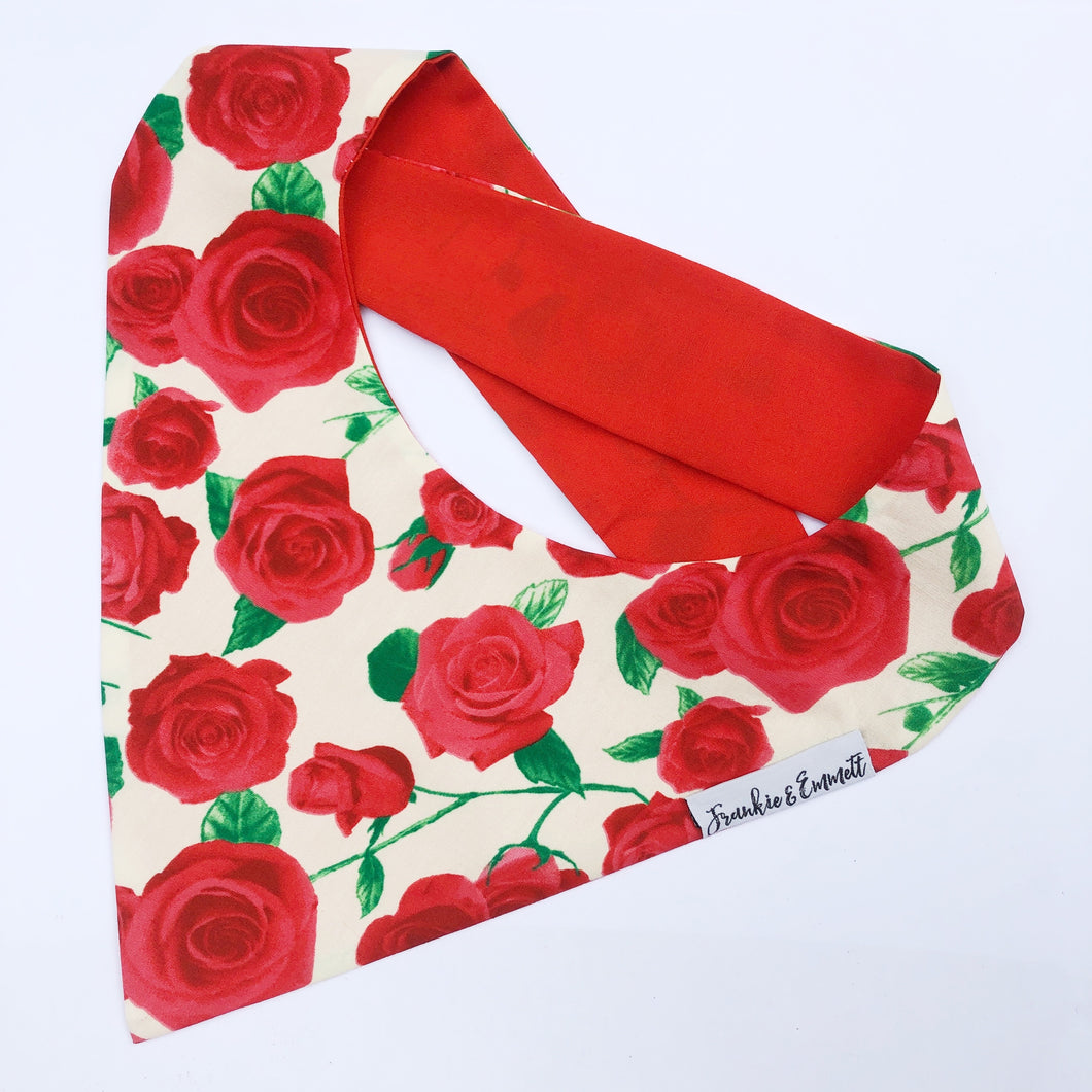 Rose Reversible Bandana