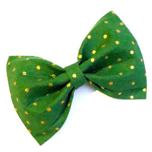 Green Spotted Bow Tie
