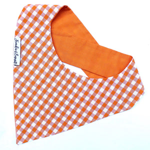 Orange Gingham Reversible Bandana