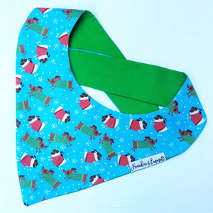 Pugs and Snags Christmas Bandana