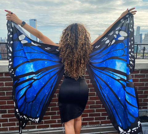 Butterfly human hair clip on extensions