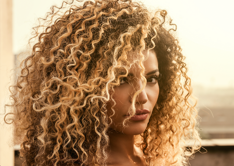 how to care for blonde curly hair