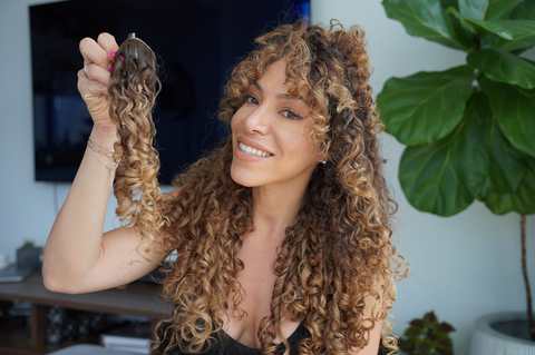 faux curly bangs