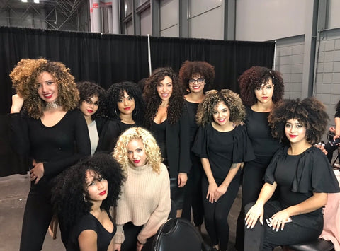 Group photo at the New York Hair Show