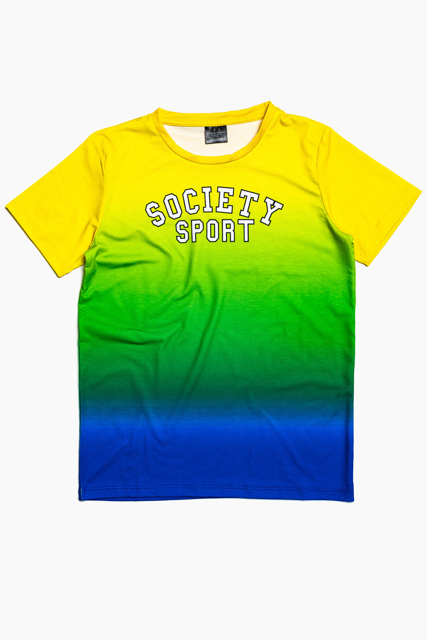 SOCIETY SPORT WINTER GRADIENT T-SHIRT