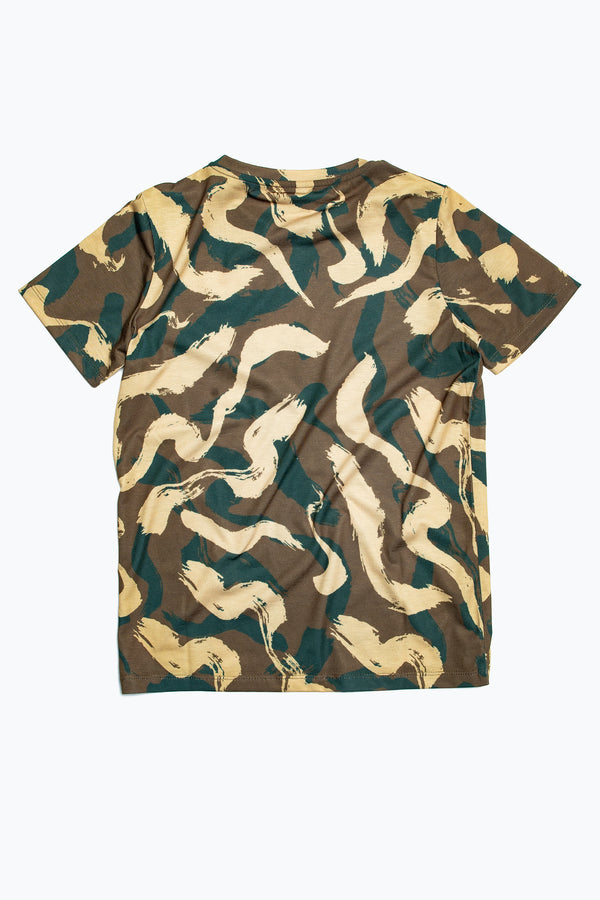 SOCIETY SPORT SQUIGGLE CAMO T-SHIRT
