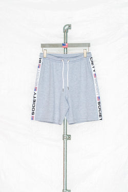 SOCIETY SPORT GREY TAPED SHORTS