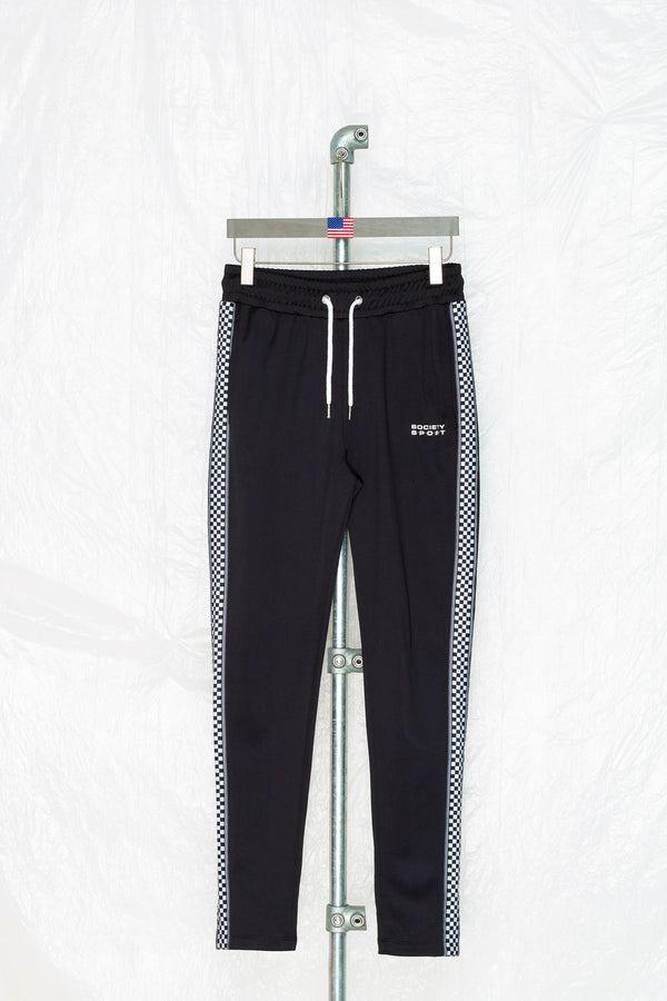 SOCIETY SPORT CHECKERBOARD TAPED POLY PANTS
