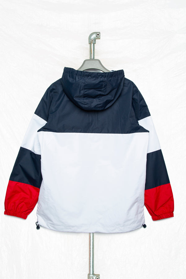Society Block Men's Navy & Red Windbreaker
