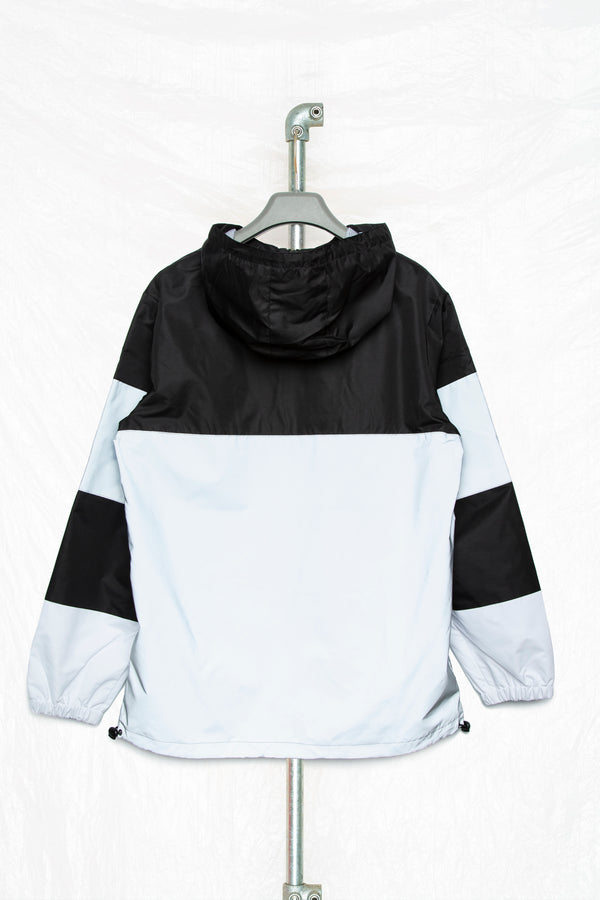 Society Block Men's Grey Reflective Windbreaker