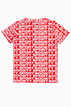 SOCIETY SPORT RED LOGO T-SHIRT