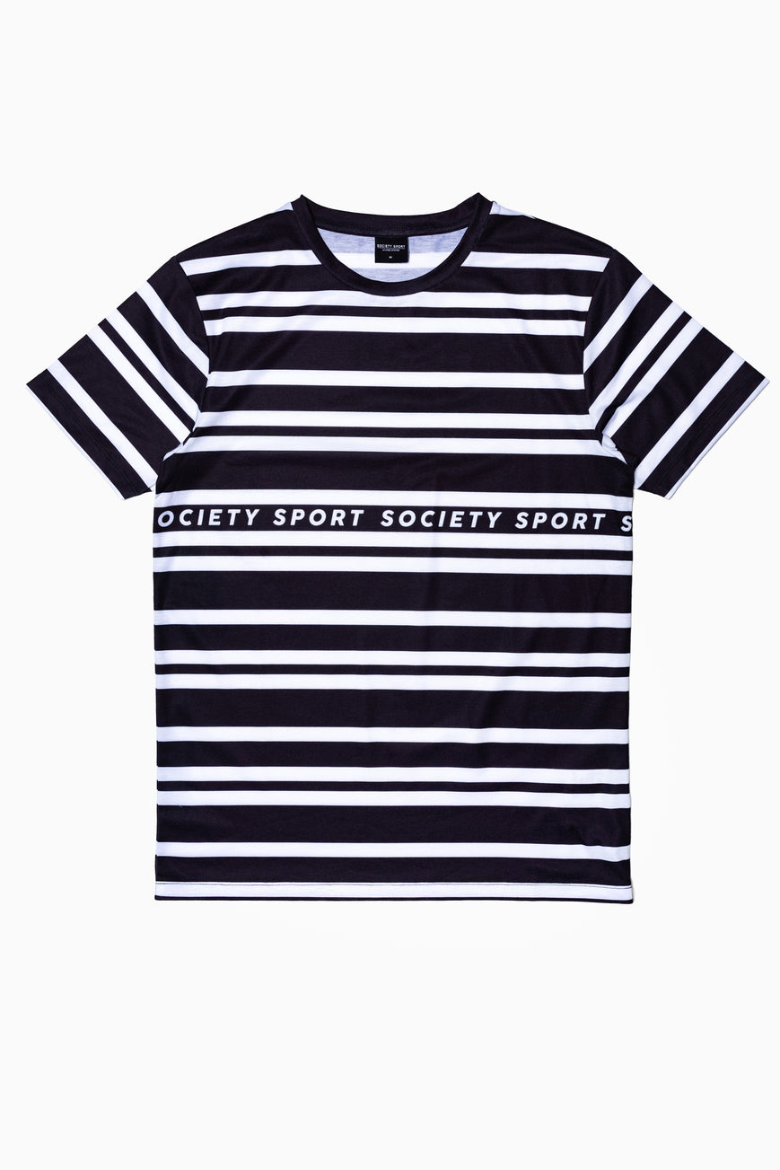 SOCIETY SPORT LOGO STRIPES MEN'S T-SHIRT