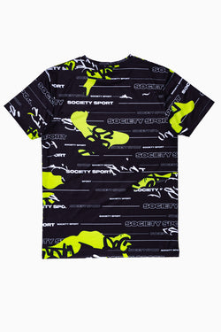 SOCIETY SPORT MULTI LOGO CAMO MEN'S T-SHIRT