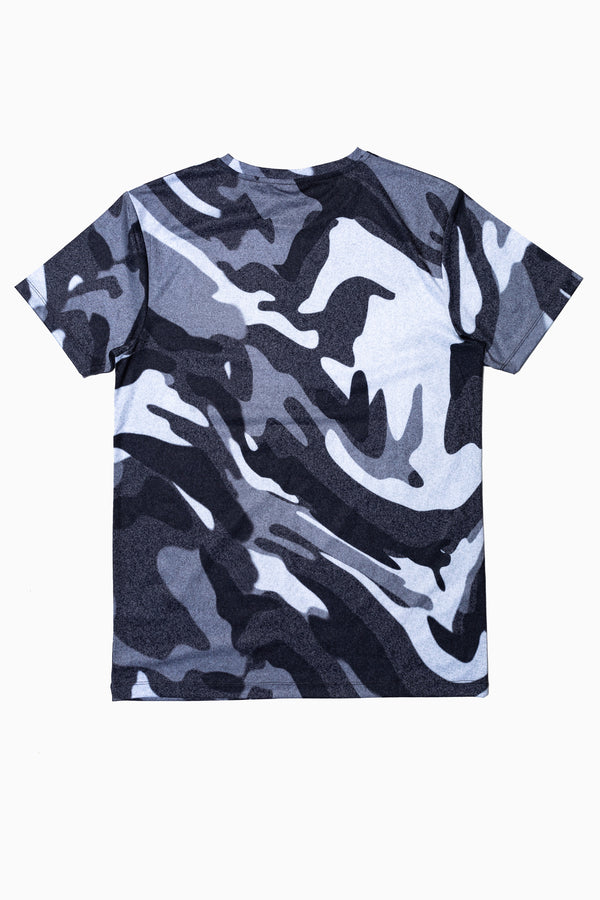 SOCIETY SPORT BLACK STATIC CAMO MEN'S T-SHIRT