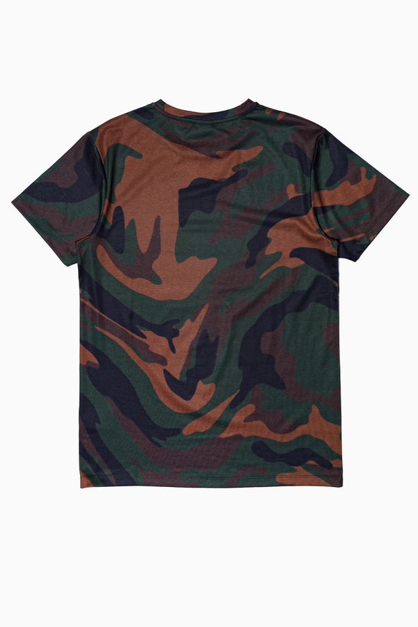 SOCIETY SPORT KHAKI STATIC CAMO MEN'S T-SHIRT