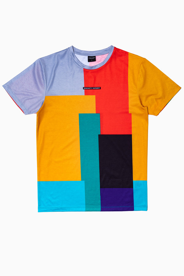 SOCIETY SPORT COLOR BLOCK MEN'S T-SHIRT