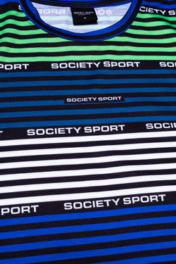 SOCIETY SPORT MULTI STRIPE LOGO MEN'S T-SHIRT