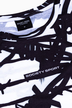 SOCIETY SPORT BARB WIRE MEN'S T-SHIRT