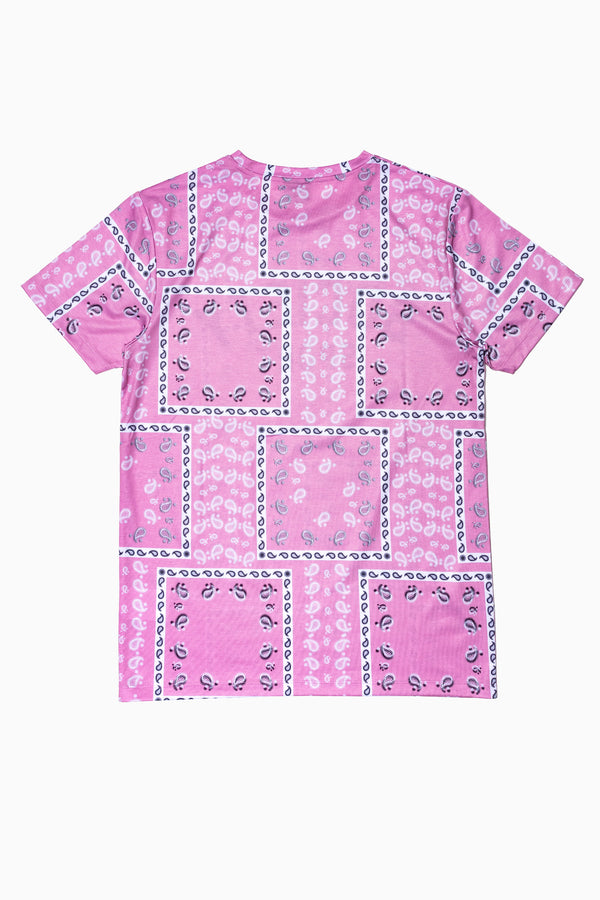 SOCIETY SPORT PINK BANDANA MEN'S T-SHIRT