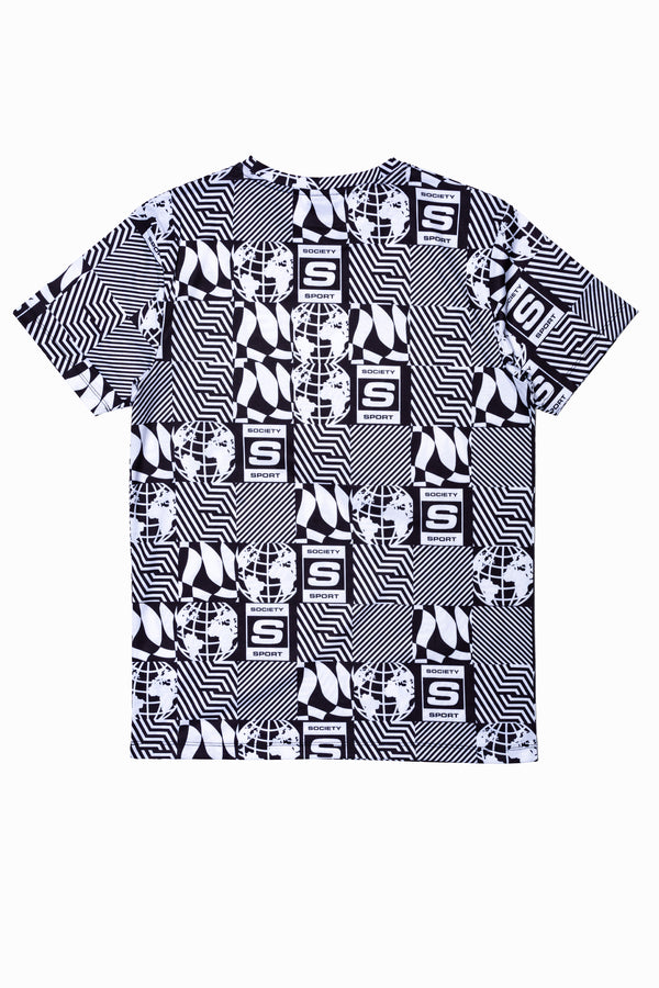 SOCIETY SPORT CHECKERBOARD LOGOS MEN'S T-SHIRT