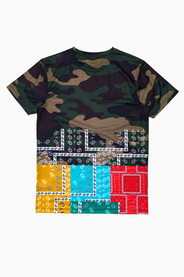 SOCIETY SPORT CAMO BANDANA MEN'S T-SHIRT