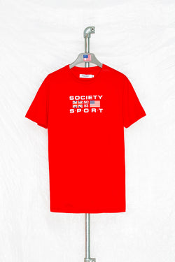 SOCIETY SPORT RED FLAGS 93 T-SHIRT