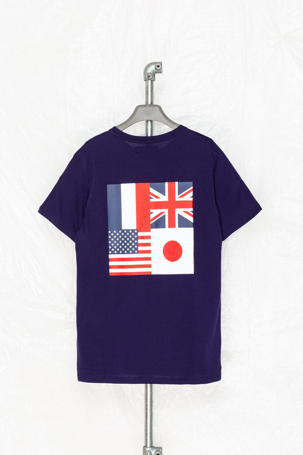 SOCIETY SPORT NAVY FLAGS 93 T-SHIRT