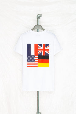 SOCIETY SPORT WHITE FLAGS 93 T-SHIRT