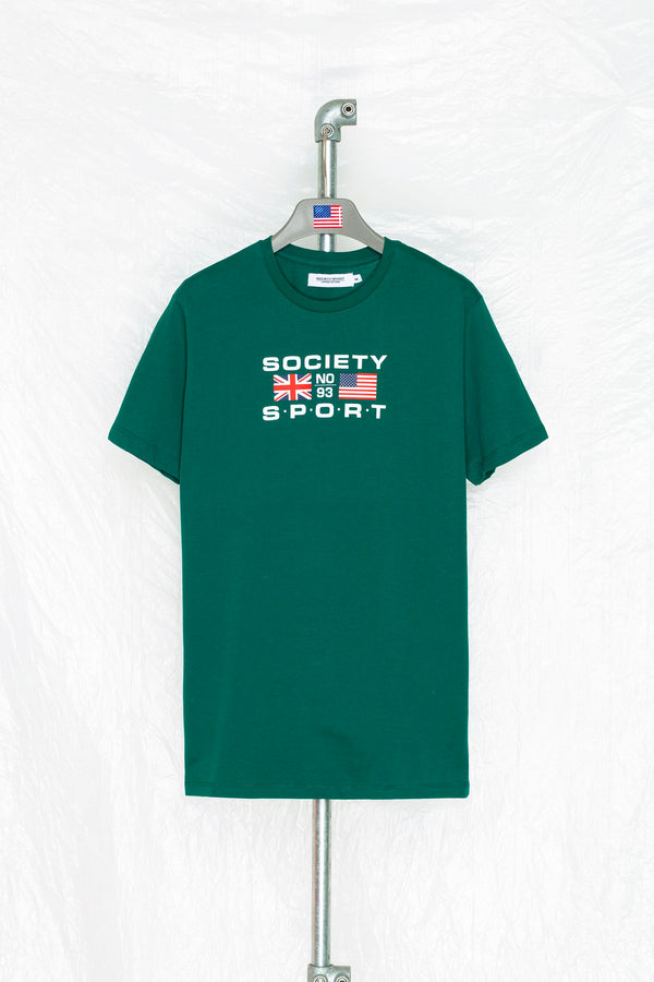 SOCIETY SPORT GREEN FLAGS 93 T-SHIRT