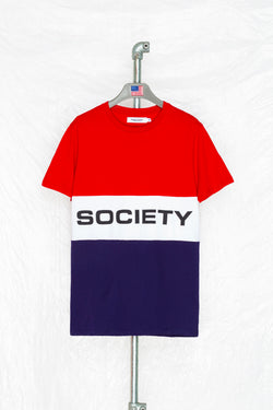 SOCIETY SPORTS RETRO PANEL T-SHIRT