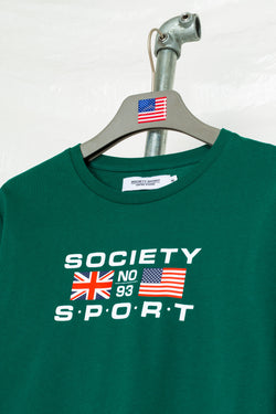 SOCIETY SPORT FLAGS 93 GREEN LONGSLEEVE T-SHIRT