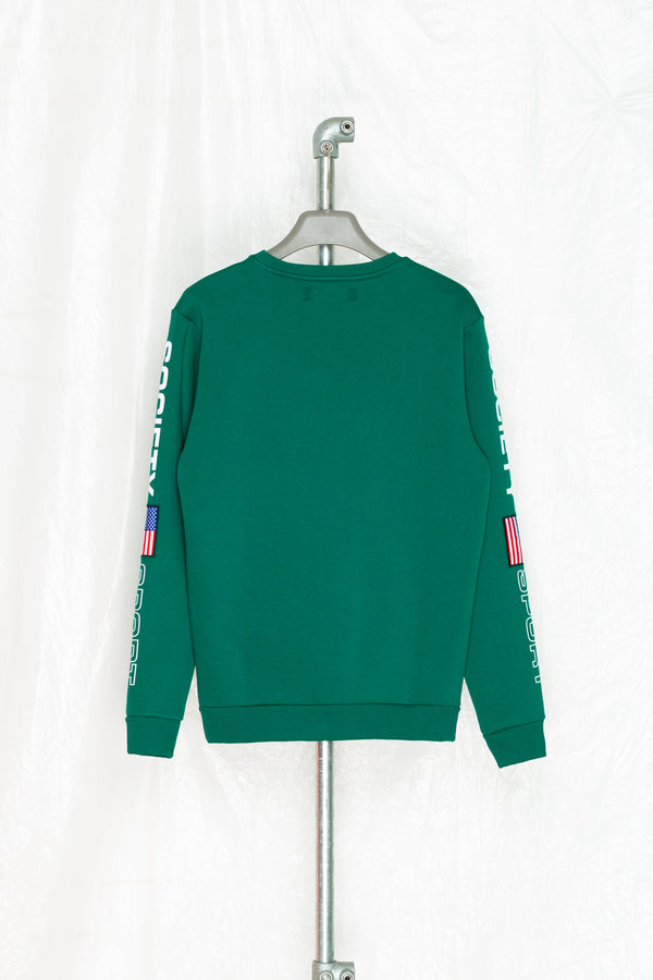 SOCIETY SPORT FLAGS 93 GREEN CREWNECK