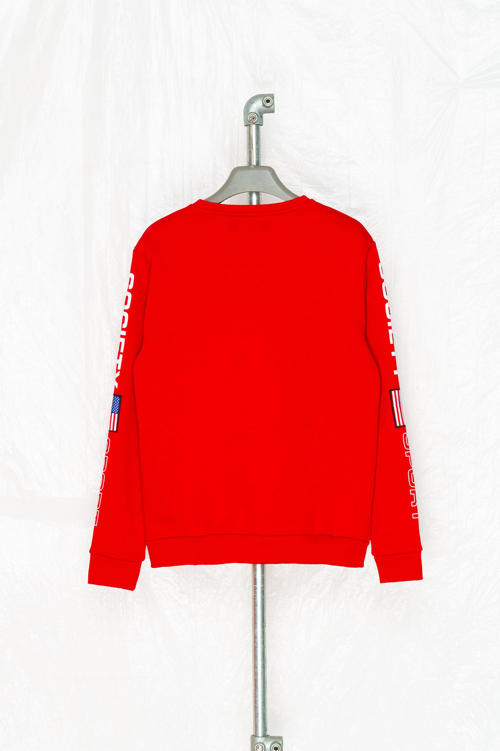 SOCIETY SPORT FLAGS 93 RED CREWNECK