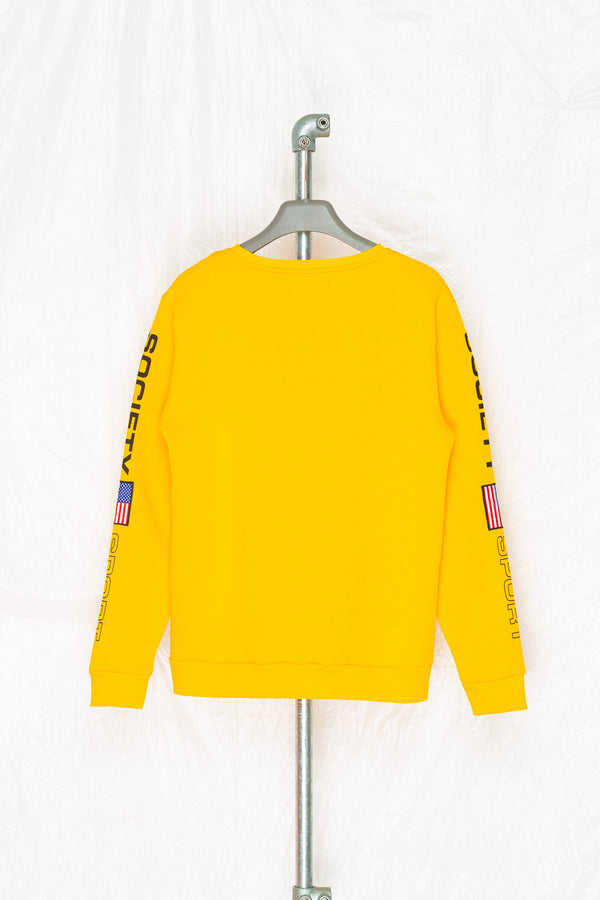 SOCIETY SPORT FLAGS 93 MANGO CREWNECK