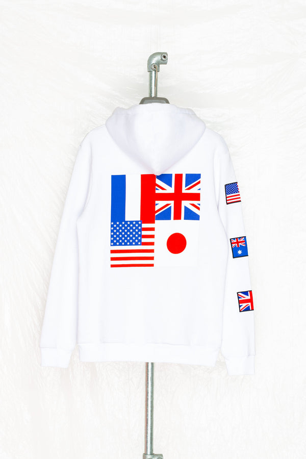SOCIETY SPORT FLAGS 93 WHITE PULLOVER