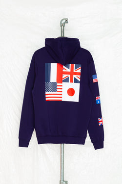 SOCIETY SPORT FLAGS 93 NAVY PULLOVER