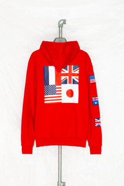 SOCIETY SPORT FLAGS 93 RED PULLOVER
