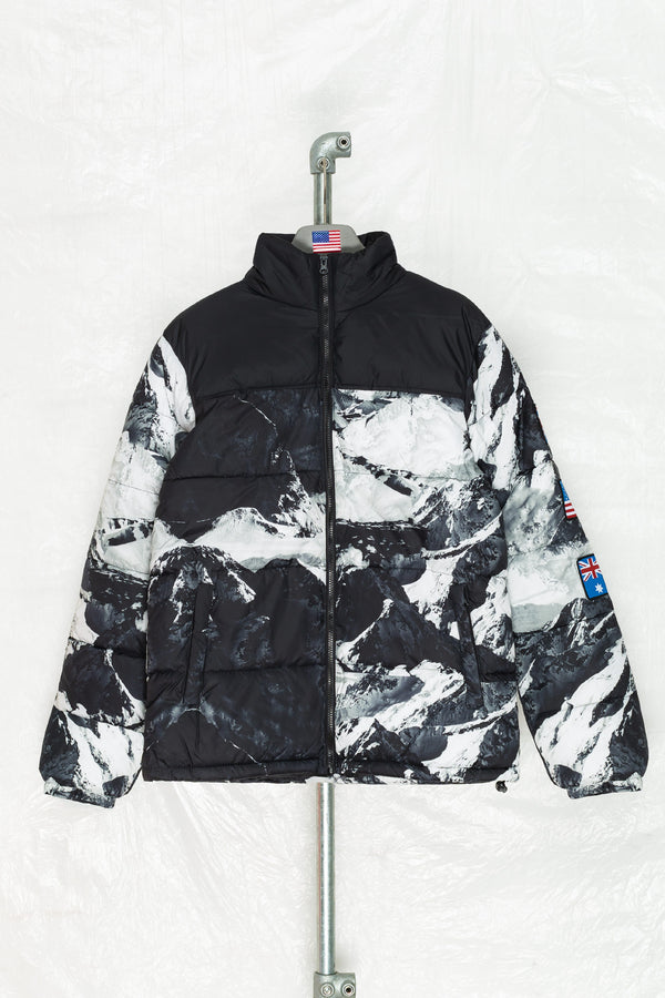 SOCIETY SPORT SUPREME ALPINE FLAGS PUFFER JACKET
