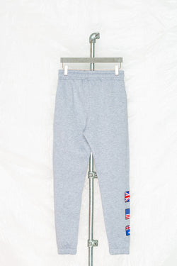 SOCIETY SPORT GREY FLAG JOGGER