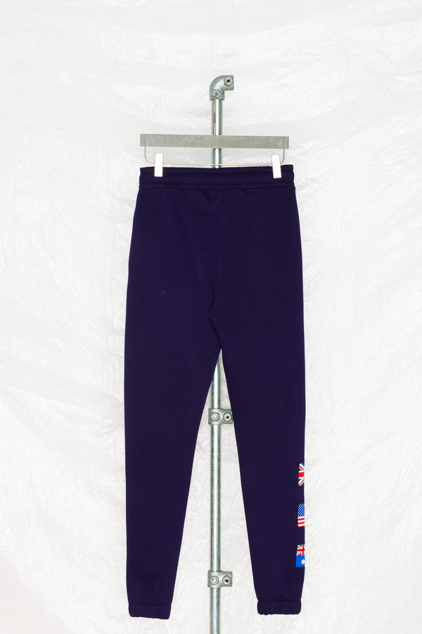 SOCIETY SPORT NAVY FLAG JOGGER