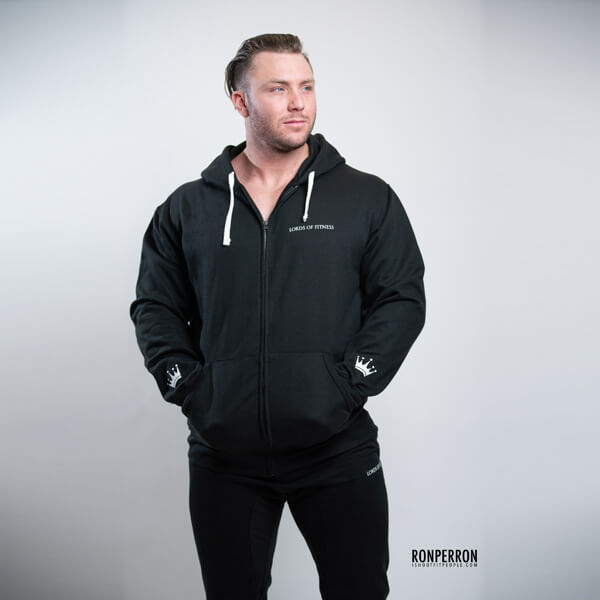 Lords of Fitness Fitted Zip-up Hoodie Black