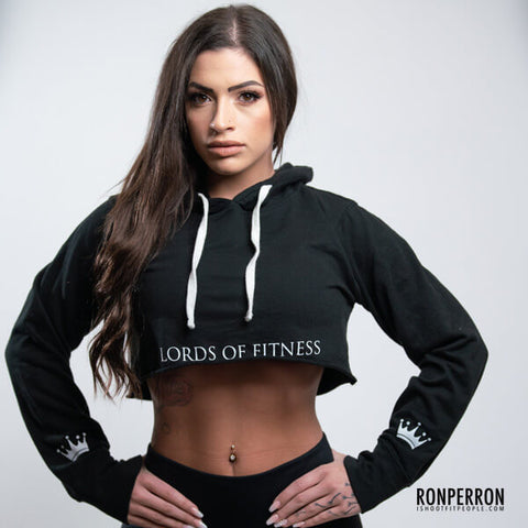 Lords Of Fitness Crop Hoodie Black