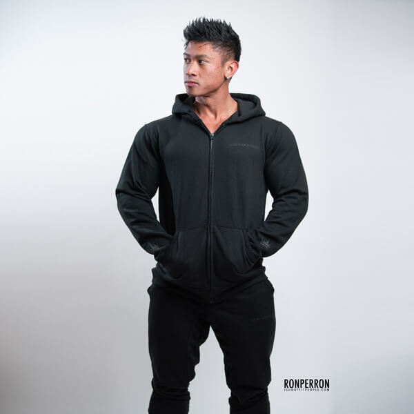 Lords of Fitness Fitted Zip-up Hoodie Blackout