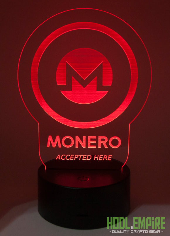 Monero Accepted Here - XMR - LED Sign - Red