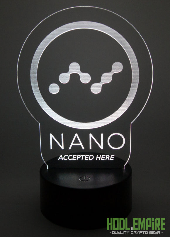 Nano Accepted Here - LED Sign - White